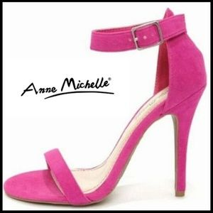 NEW! Pink Open Toe Ankle Strap Stiletto Size 6.5
